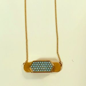 KEEP🗝Collective Gold/Turquoise Pave Necklace